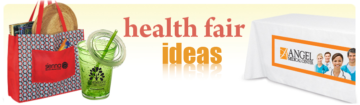 health fair promo products