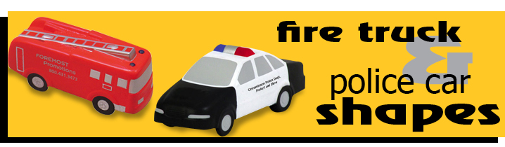 Fire truck-police car shaped promotional products